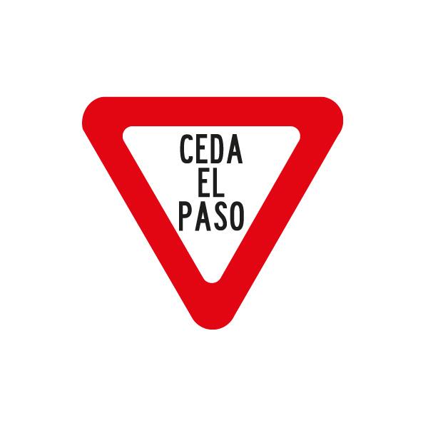 pare-señalización reglamentaria ciclistas - ceda el paso