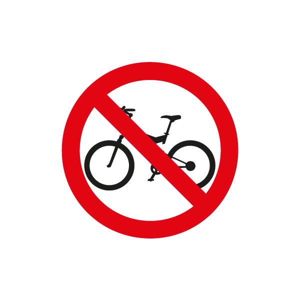 señalización reglamentaria ciclistas - prohibida la circulación de bicicletas