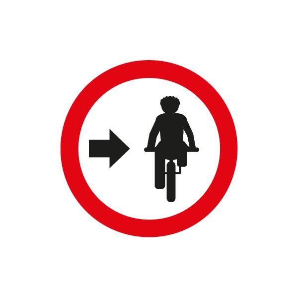 señalización reglamentaria ciclistas - ciclistas a la derecha
