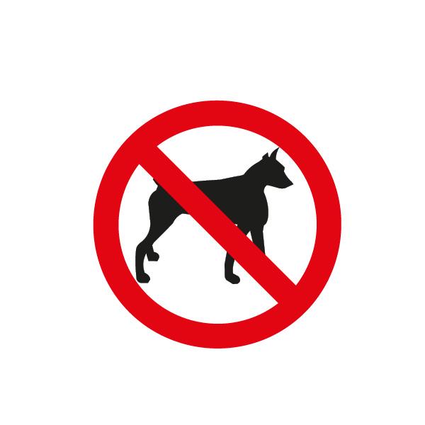 señalización reglamentaria ciclistas - prohibida circulación de mascotas