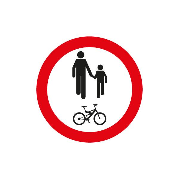 señalización reglamentaria ciclistas - circulación compartida